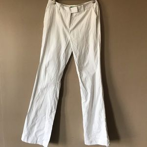 Mid rise white flare pants